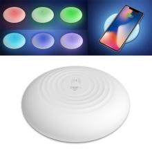 Bezdrátová nabíječka / nabíjecí podložka Qi CAGER - silikonová - svítící - bílá