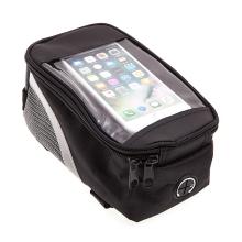 Sportovní pouzdro na kolo pro Apple iPhone 6 / 6S / 7 / 7 / 8 / modely Plus / X - černé s reflexním pruhem