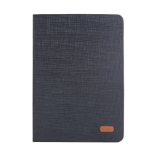 Pouzdro KAKUSIGA pro Apple iPad Air 1 / Air 2 / Pro 9,7 / 9,7 (2017-2018) - látková textura - černé / šedé
