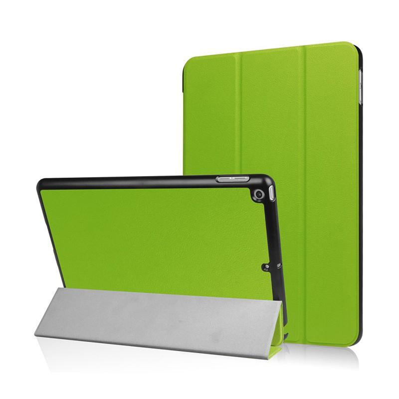 Pouzdro / kryt pro Apple iPad 9,7 (2017-2018) - funkce chytrého uspání + stojánek - zelené