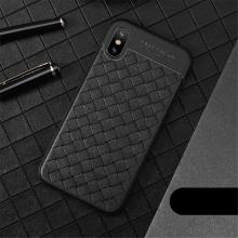 Kryt USAMS pro Apple iPhone X - perforovaný / s otvory - pletená textura - gumový