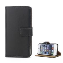 Pouzdro pro Apple iPhone 5 / 5S / SE - stojánek + prostor pro platební karty - kožené - černé