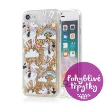 Kryt pro Apple iPhone 6 / 6S - Minnie na duhovém jednorožci - třpytky - gumový