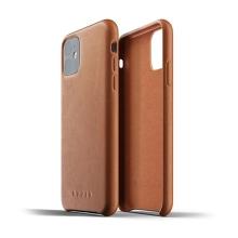 Kryt MUJJO Full leather pro Apple iPhone 11 - kožený - hnědý