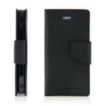 Ochranné pouzdro pro Apple iPhone 5 / 5S / SE Mercury Goospery s prostorem pro umístění platebních karet - černé