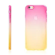 Kryt pro Apple iPhone 6 Plus / 6S Plus gumový tenký - žlutý / růžový