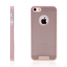 Kryt LOOPEE pro Apple iPhone 5 / 5S / SE plastový / výřez pro logo - růžově zlatý (Rose Gold)