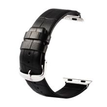 Řemínek Kakapi pro Apple Watch 44mm Series 4 / 5 / 6 / SE / 42mm 1 / 2 / 3 + šroubovák - kožený - černý