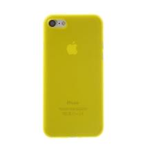 Kryt / obal pro Apple iPhone 7 / 8 - ochrana čočky - ultratenký - plastový - matný - žlutý