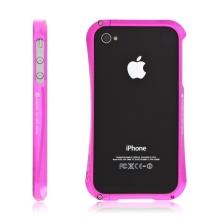 Kvalitní hliníkový bumper Cleave pro Apple iPhone 4S - růžový