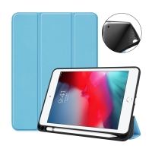 Pouzdro / kryt pro Apple iPad mini 4 / mini 5 - funkce chytrého uspání - gumové - modré