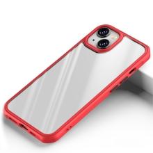 Kryt pro Apple iPhone 13 mini - plastový / gumový - průhledný / červený