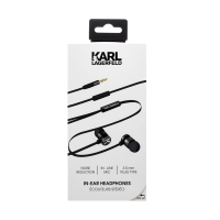 Sluchátka KARL LAGERFELD - špunty - ovládání + mikrofon - černá