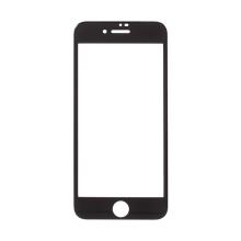 Tvrzené sklo (Tempered Glass) AMORUS pro Apple iPhone 8 / SE (2020) - na přední část - 3D hrana - černý rámeček - 0,3mm