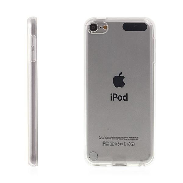 Kryt pro Apple iPod touch 6.gen. gumový lesklý - průhledný