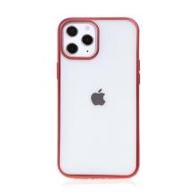 Kryt FORCELL Electro Matt pro Apple iPhone 12 / 12 Pro - gumový - průhledný / červený