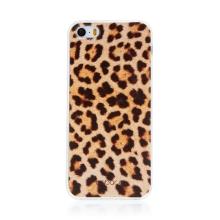 Kryt BABACO pro Apple iPhone 5 / 5S / SE - gumový - leopardí vzor