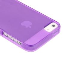 Ochranný gumový kryt pro Apple iPhone 5 / 5S / SE - fialový