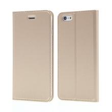 Pouzdro DUX DUCIS pro Apple iPhone 6 Plus / 6S Plus - stojánek + prostor pro platební kartu - zlaté