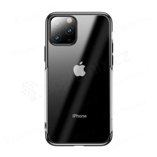Kryt BASEUS Shining pro Apple iPhone XI Max - gumový - pokovený - průhledný