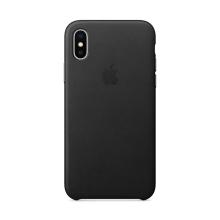Originální kryt pro Apple iPhone X - kožený - černý