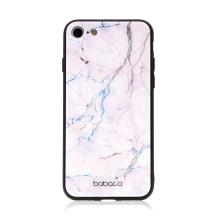 Kryt BABACO pro Apple iPhone - skleněný - růžový mramor