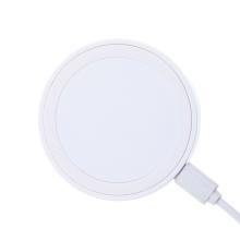 Bezdrátová nabíječka / nabíjecí podložka Qi - mini - plastová - bílá