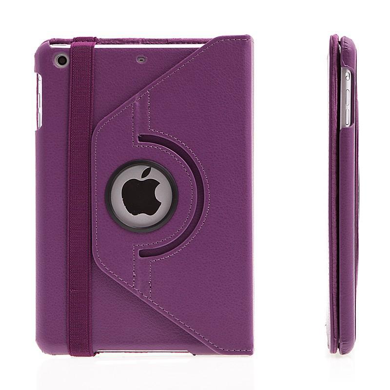 Pouzdro / kryt pro Apple iPad mini / mini 2 / mini 3 - 360° otočný držák - fialové