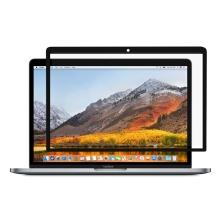 """Ochranná fólie pro Apple MacBook Air / Air M1 (2018-2021) 13"""" (A1932, A2179, A2337) - čirá - černý rámeček"""