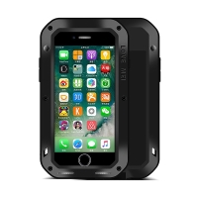 Pouzdro LOVE MEI pro Apple iPhone 7 Plus / 8 Plus outdoor / kov silikon - tvrzené sklo na přední části - černé