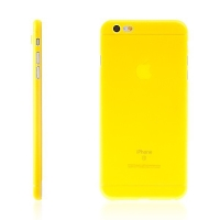 Kryt pro Apple iPhone 6 Plus / 6S Plus plastový tenký ochrana čočky žlutý