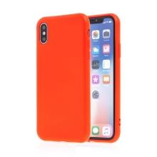 Kryt SWISSTEN Soft Joy pro Apple iPhone X / Xs - příjemný na dotek - silikonový - červený