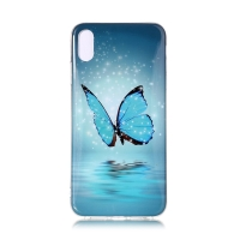 Kryt pro Apple iPhone Xr - gumový - motýl - svítící ve tmě