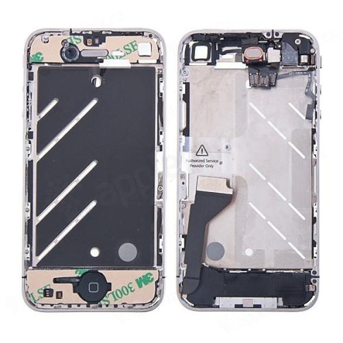 Osazený středový rámeček pro Apple iPhone 4 - černý
