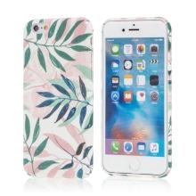 Kryt pro Apple iPhone 7 / 8 - listy - plastový - bílý