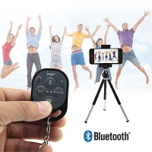Bluetooth spoušť fotoaparátu pro Apple iPhone / iPad (podporuje i Android) - černá