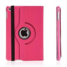Pouzdro / kryt pro Apple iPad mini 4 - 360° otočný držák a prostor na doklady - růžové
