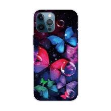 Kryt pro iPhone 12 Pro Max - gumový - psychedeličtí motýli