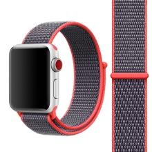 Řemínek pro Apple Watch 44mm Series 4 / 5 / 42mm 1 2 3 - nylonový - svítivě růžová