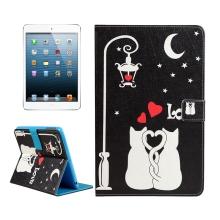 Pouzdro / kryt pro Apple iPad mini / mini 2 / mini 3 / mini 4 - integrovaný stojánek - zamilované kočky