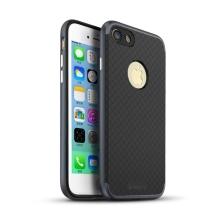 Kryt IPAKY pro Apple iPhone 7 / 8 gumový / šedý plastový rámeček - černý