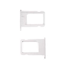 Rámeček / šuplík na Nano SIM pro Apple iPhone 5 / 5S / SE - stříbrný (silver) - kvalita A+