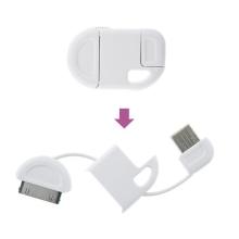 Synchronizační a nabíjecí USB kabel na klíčenku pro Apple iPhone / iPad / iPod - bílý - 2. jakost