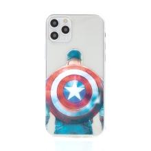 Kryt Captain America pro Apple iPhone 11 Pro - gumový - průhledný