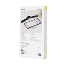 2v1 bezdrátová nabíječka / podložka Qi BASEUS pro Watch / iPhone - bílá