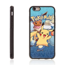 Kryt pro Apple iPhone 6 Plus / 6S Plus - kovový povrch - gumový - Pokemon Go / Pikachu