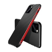 Kryt pro Apple iPhone 11 Pro - kovový / plastový - karbonová textura - černý