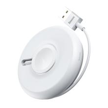 Magnetický nabíjecí kabel BASEUS Yoyo pro Apple Watch 38mm / 40mm a 42 / 44mm - 1m - bílý