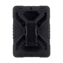 Pouzdro Pepkoo pro Apple iPad 9,7 (2017-2018) plast / silikon - otočný stojánek - přední ochranná vrstva - černé
