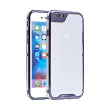 Kryt IPAKY pro Apple iPhone 6 / 6S - plastový / gumový - průhledný / kovově šedý